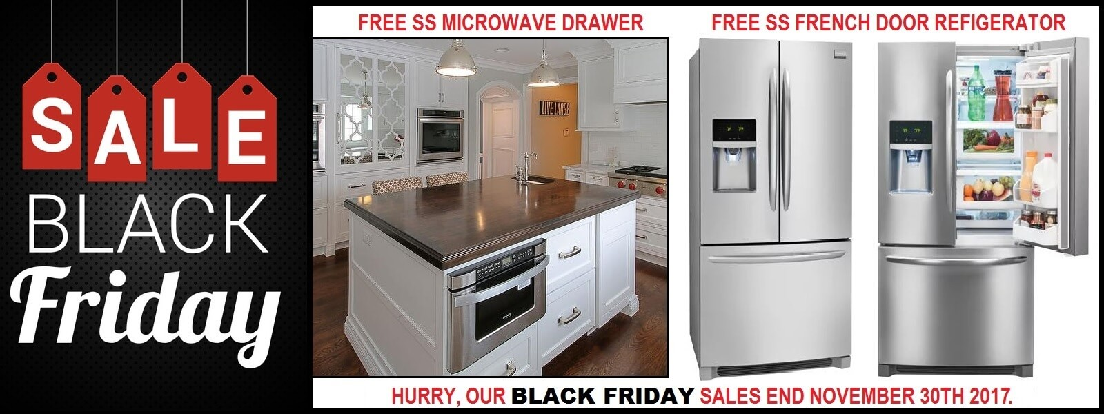 Black Friday Super Sale Free SS French Door Refrigerator