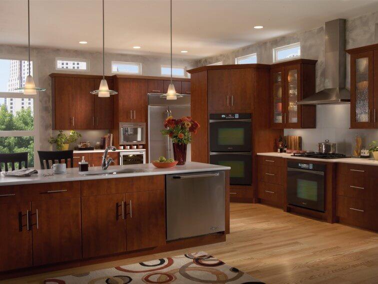 Ultracraft Eurotek Veneer Frameless Kitchen Cabinets in Scottsdale AZ