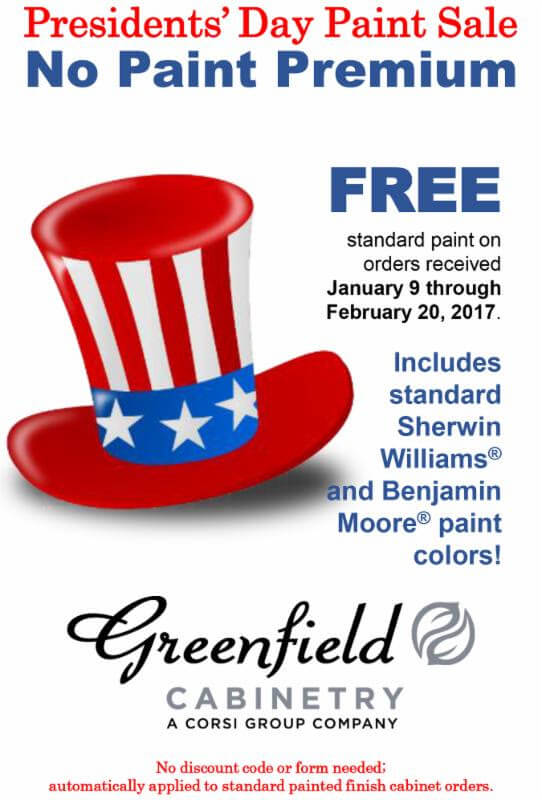 Greenfield Presidents Day Sale