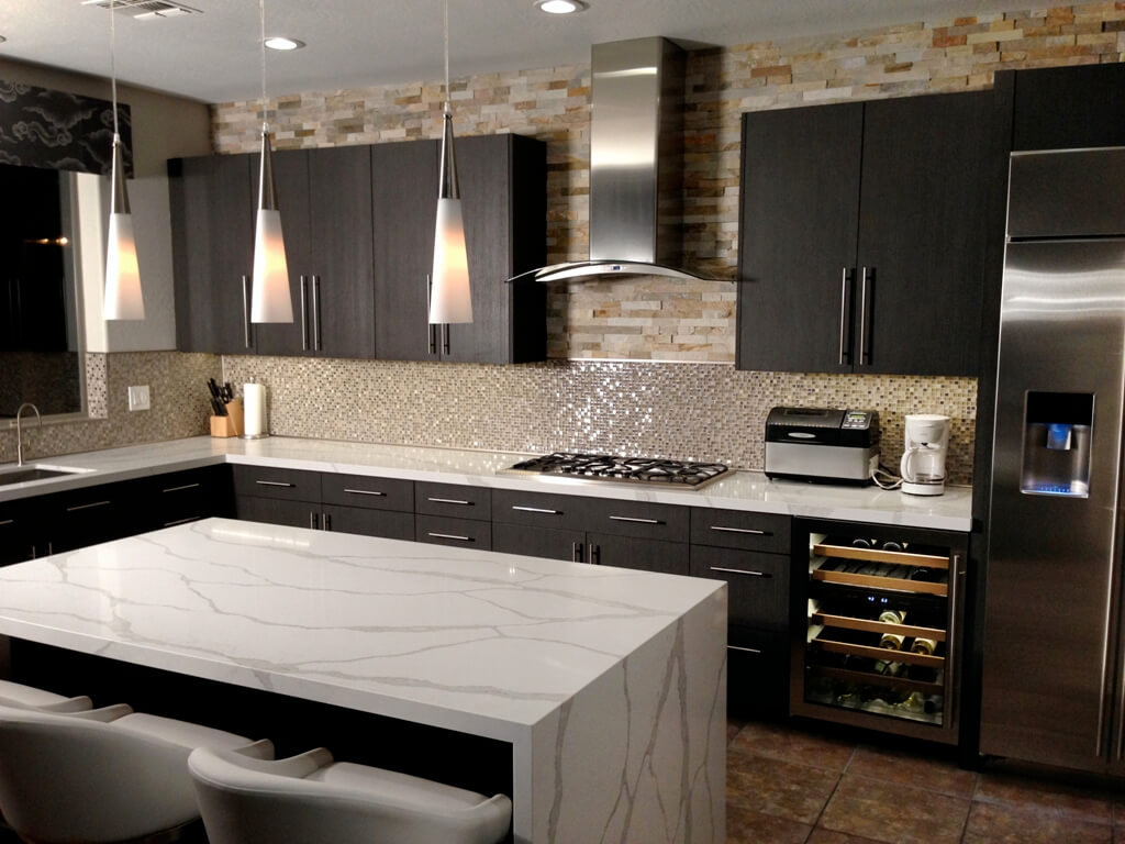 Cabinet and Stone Kitchen Remodeling Project Scottsdale AZ