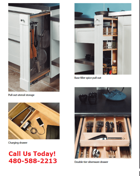 Donu0027t Forget To Include Custom Accessory Cabinets. We Have Storage Cabinets  For Everything From Utensils And Spices To Double Silverware And Charging  ...