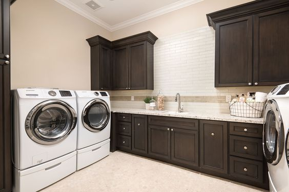 Create a clean and organized laundry room with cabinet and stone - We collect the top rated kitchen cabinet ...