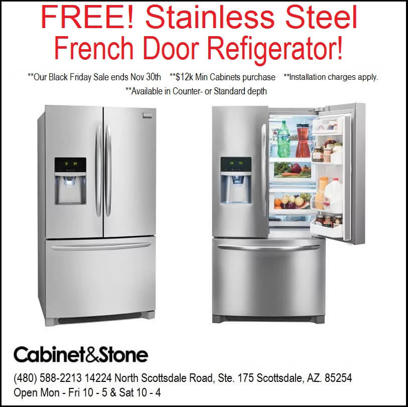 Black friday super sale free ss french door refrigerator for Black friday deals on kitchen cabinets