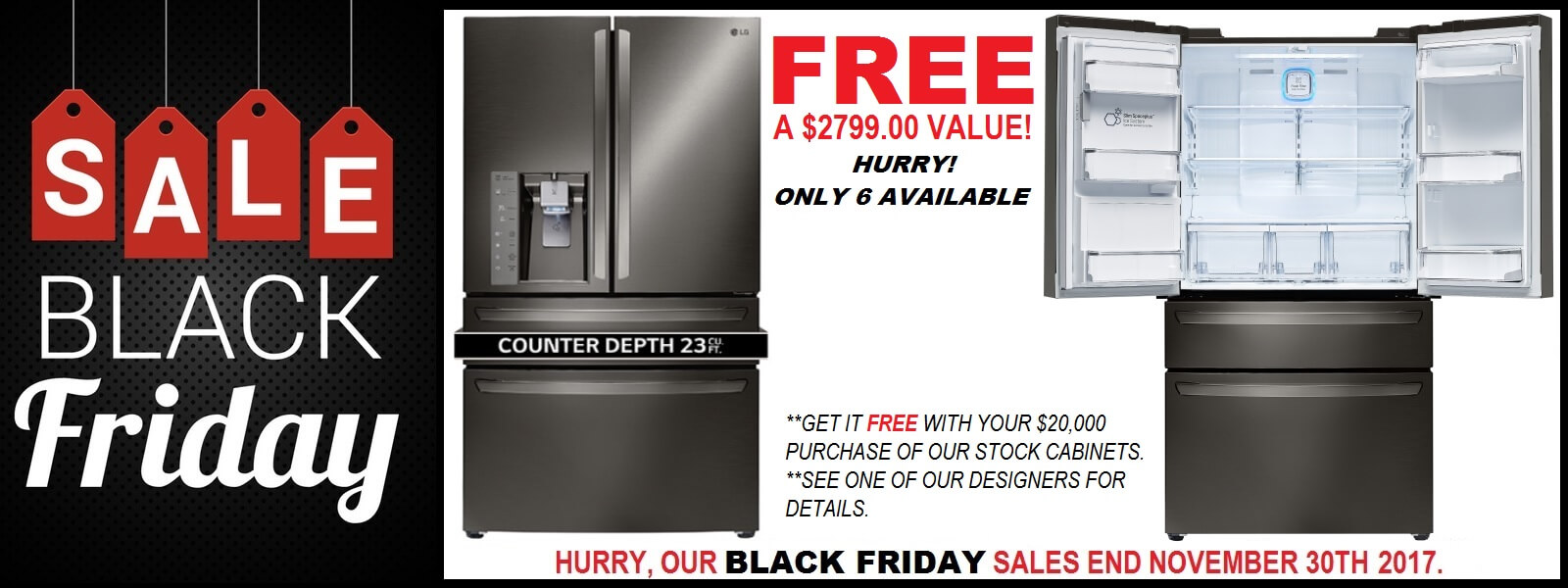 Black Friday Sale Free Refrigerator
