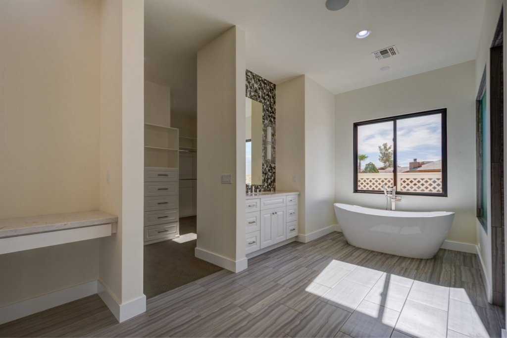 Luxurious Master Bathroom Designs Cave Creek AZ by Cabinet & Stone