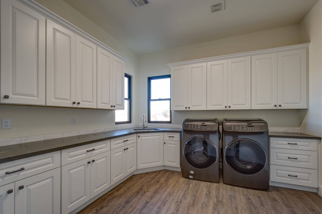 Spacious Laundry Room Designs Designs Cabinet & Stone Cave Creek AZ