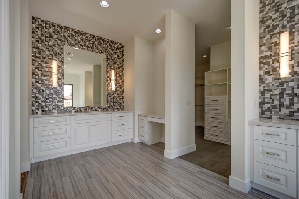 Luxurious Master Bathroom Designs Cave Creek AZ Cabinet & Stone