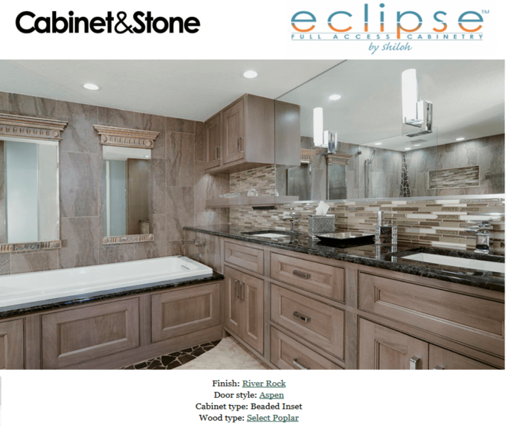 Incroyable This Kitchen Features Eclipse By Shiloh Cabinets. These Cabinets Are Beaded  Inset Aspen Door Style In River Rock Finish. The Dark Multi Colored  Countertops ...