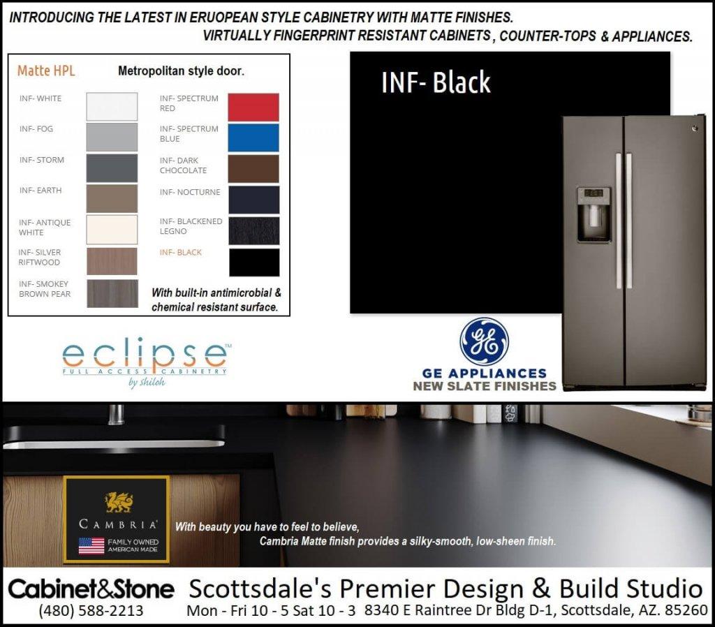 Matte Cabinets Countertops & appliances