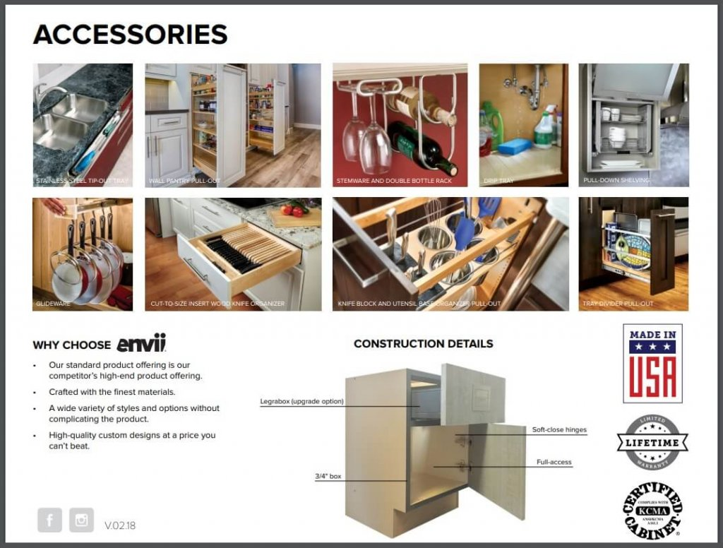 Evnii European Kitchen & Bath Cabinets Dealer Scottsdale Cabinet & Stone